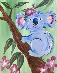 Painting of a decorative koala