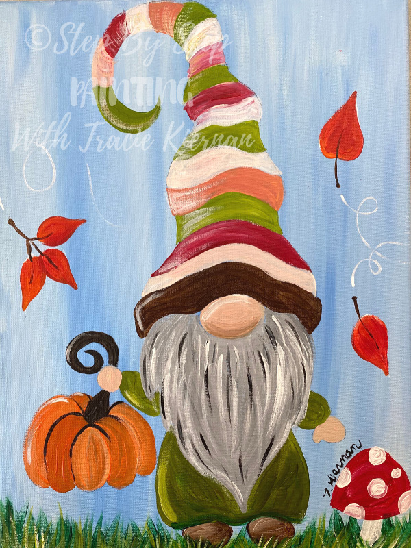 How To Paint A Fall Gnome Step By Step Painting With Tracie Kiernan