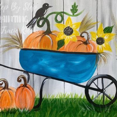 Fall Wheelbarrow Painting