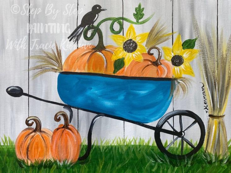 How To Paint A Fall Wheelbarrow