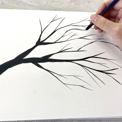 How To Paint Tree Branches