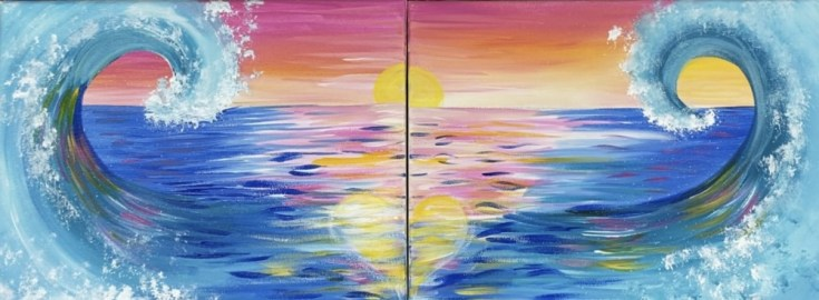 Wave Duo Painting