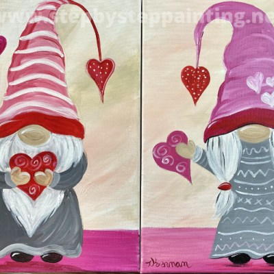 How To Paint A Valentine's Gnome