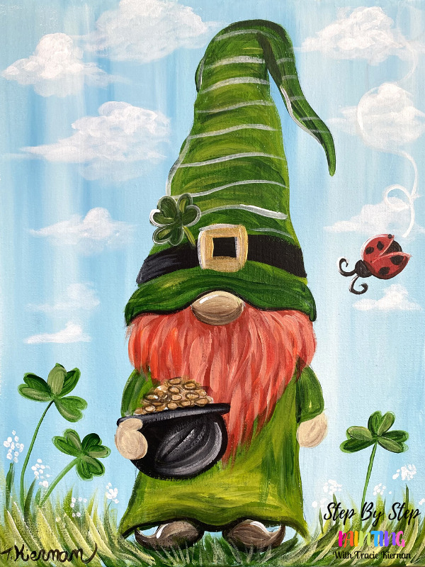 St. Patrick's Day Gnome Painting
