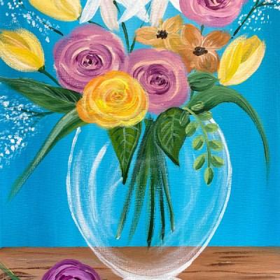 Spring Flower Vase Painting