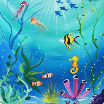 Under The Sea Painting Tutorial