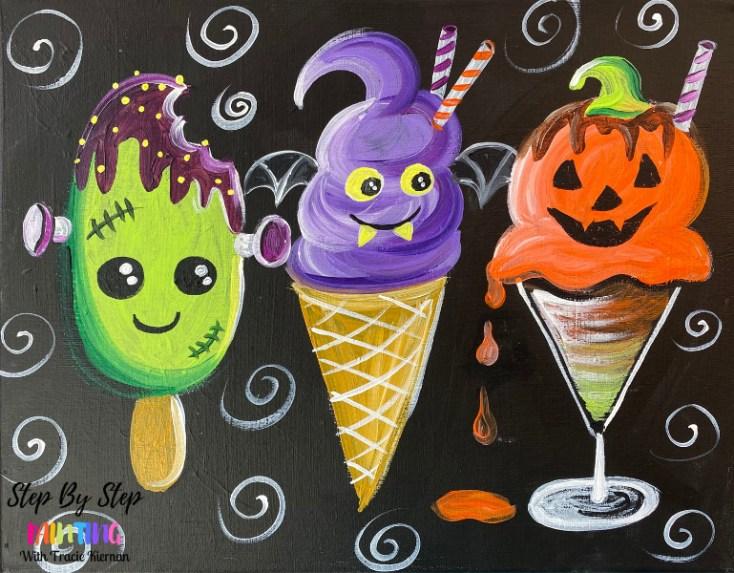 Halloween Treats Acrylic Painting Tutorial