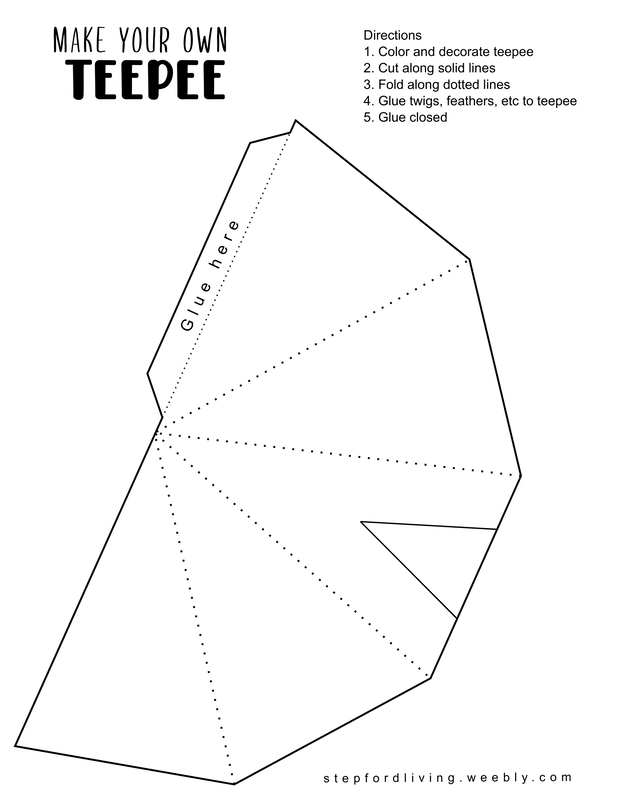 Free Teepee Craft Template