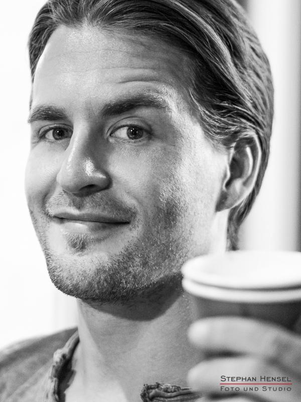 Alexander Klaws im Studio bei Stephan Hensel, Portraitfotograf: Stephan Hensel
