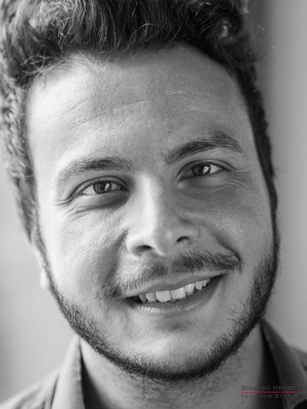 Armando Quattrone im Studio bei Stephan Hensel, Portraitfotograf: Stephan Hensel