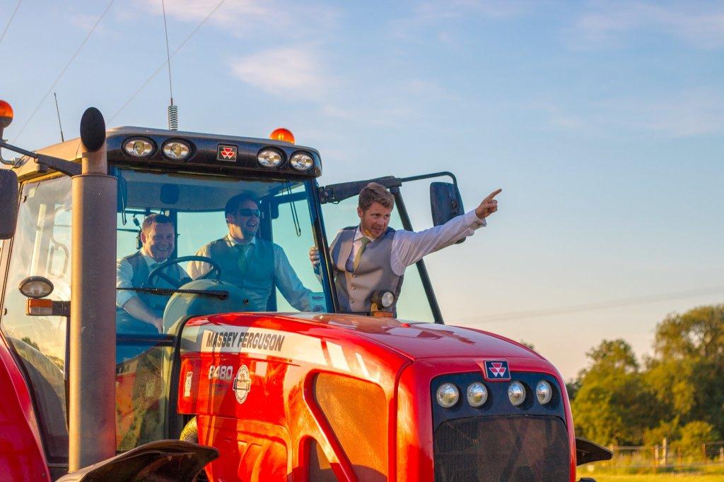 Groomsmen Tractor