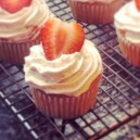 Strawberry & Cream Cupcake