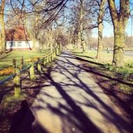 Hyde Park walk way