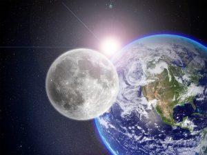 lune soleil terre, équinoxe de mars et nouvelle lune