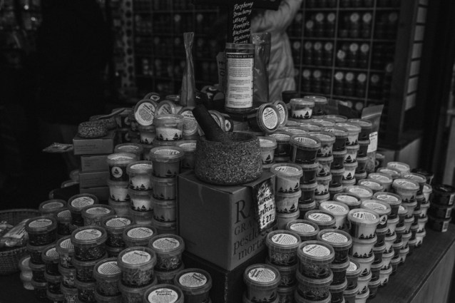 Black and white picture of some spices
