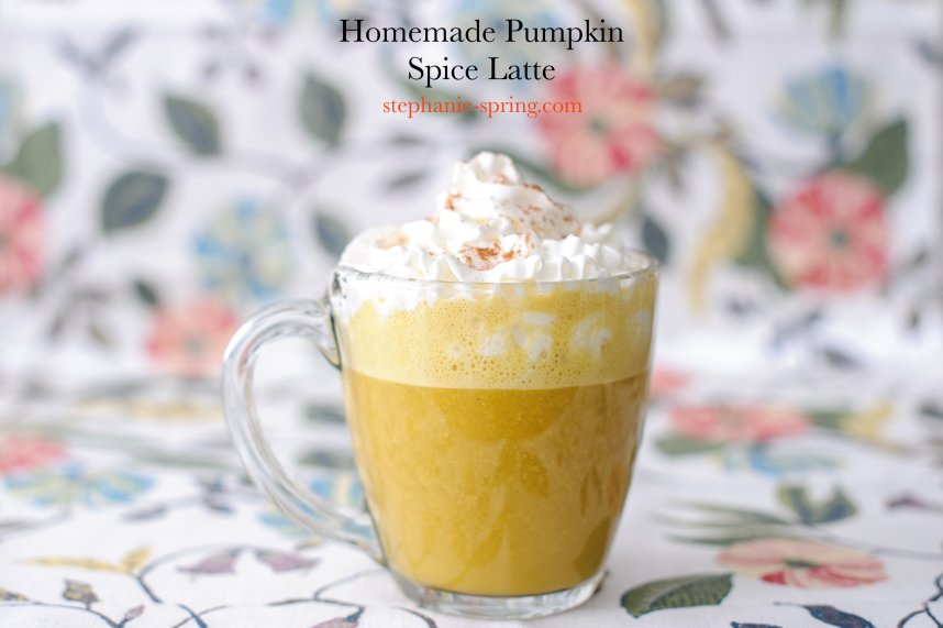 Homemade Pumpkin Spice Latte--Recipe at: stephanie-spring.com