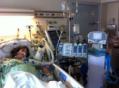 Stephanie in Hospital
