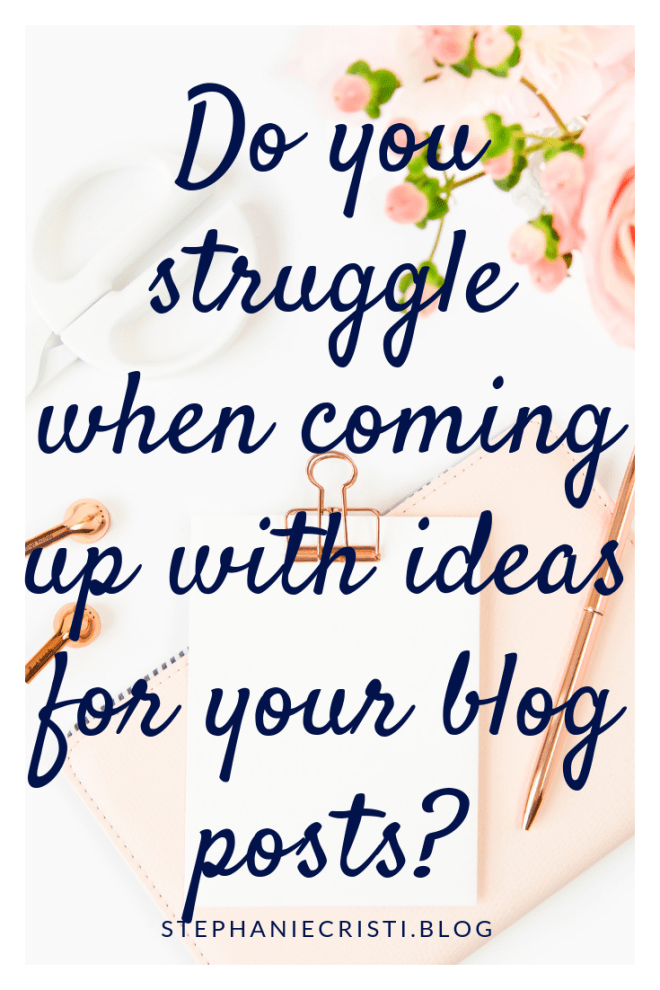 For any bloggers struggling to come up with ideas for blog posts, StephanieCristi details her method for neverending content ideas.