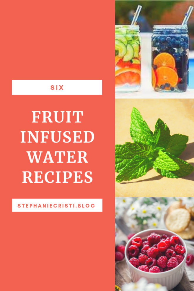 Try one of StephanieCristi\'s flavored water ideas. Fruit infused water will keep your water interesting and also increase your fruit and vegetable intake! #recipes #fruitwater