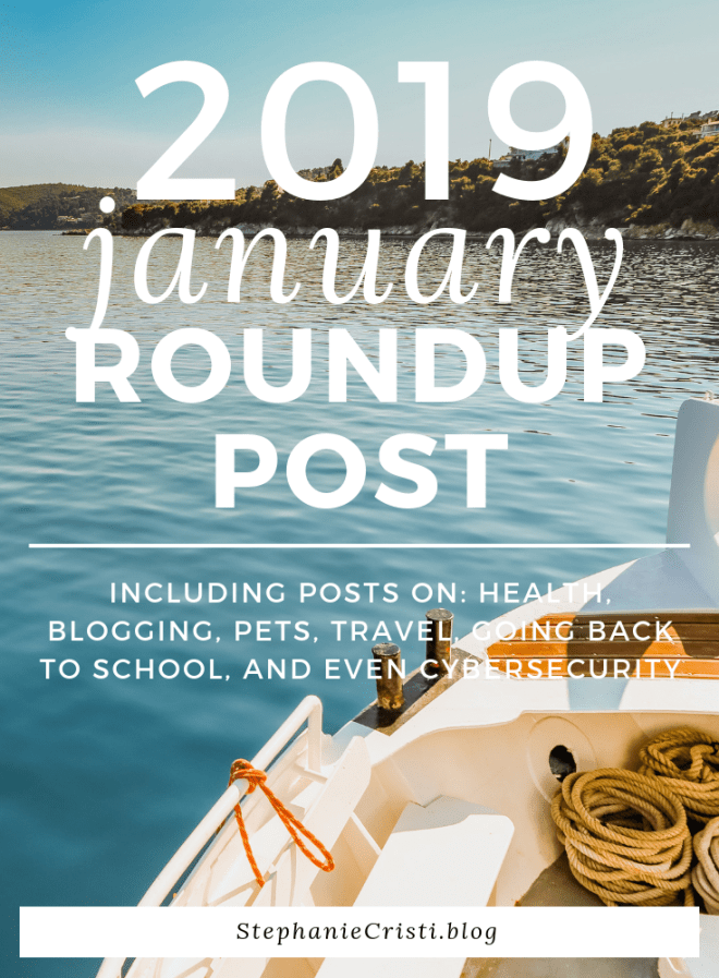 With another month down in the books, StephanieCristi shares a January roundup of her content, as well as some behind-the-scenes of StephanieCristi. #health #blogging #pets #dogs #travel #Miami #goingbacktoschool #cybersecurity