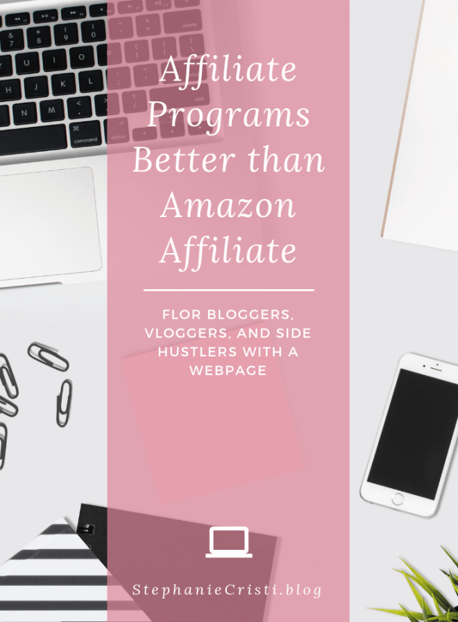 Forget Amazon Affiliate... this StephanieCristi article provides her best recommendations of affiliate programs that are better for bloggers and influencers to join. #bloggers #blogging #affiliateprograms