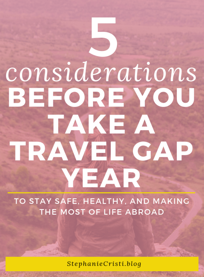 Long-term travel is something that we all think about at some point. Maybe you're bored of your town or city, or you've always wanted to go to Europe. Or maybe, you're just so done with your 9 'til 5 job.  So perhaps you\'re considering a travel gap year?  Whatever your reasons, you need to make sure that you're prepared to embark upon such a big journey. If you\'ve decided you want to take the plunge, here are 5 things to consider before you take a travel gap year.