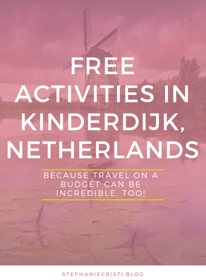 Are you planning a trip to the Netherlands soon? With so many incredible sights to see, ranging from the dreamy canals to the historic landmarks, windmills, and museums, you\'ll surely have plenty of things to do in Kinderdijk. Click through to check out my suggested free activities in Kinderdijk.