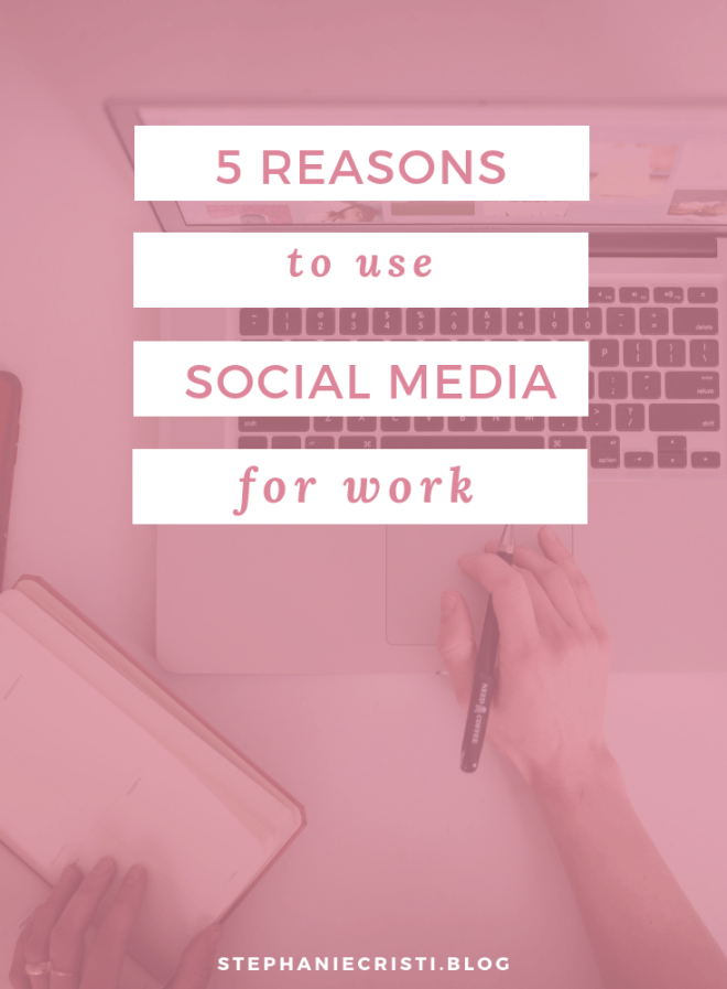 5 Simple Reasons to Use Social Media For Work