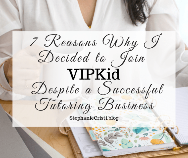 Several people have asked me why I decided to join VIPKid despite a successful tutoring business. After all, I even wrote a book on setting up a killer tutoring side hustle! So today, I'd like to let you in on my reasoning, and who knows? Maybe you'll even decide to give VIPKid a try for yourself!