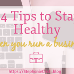 When you run a business, it's not always easy to look after your health. You're busy trying to keep everything running, so you end up eating at your desk a lot and not finding time to exercise. Although it can be difficult, there are simple ways to focus on staying healthy when you run a business.