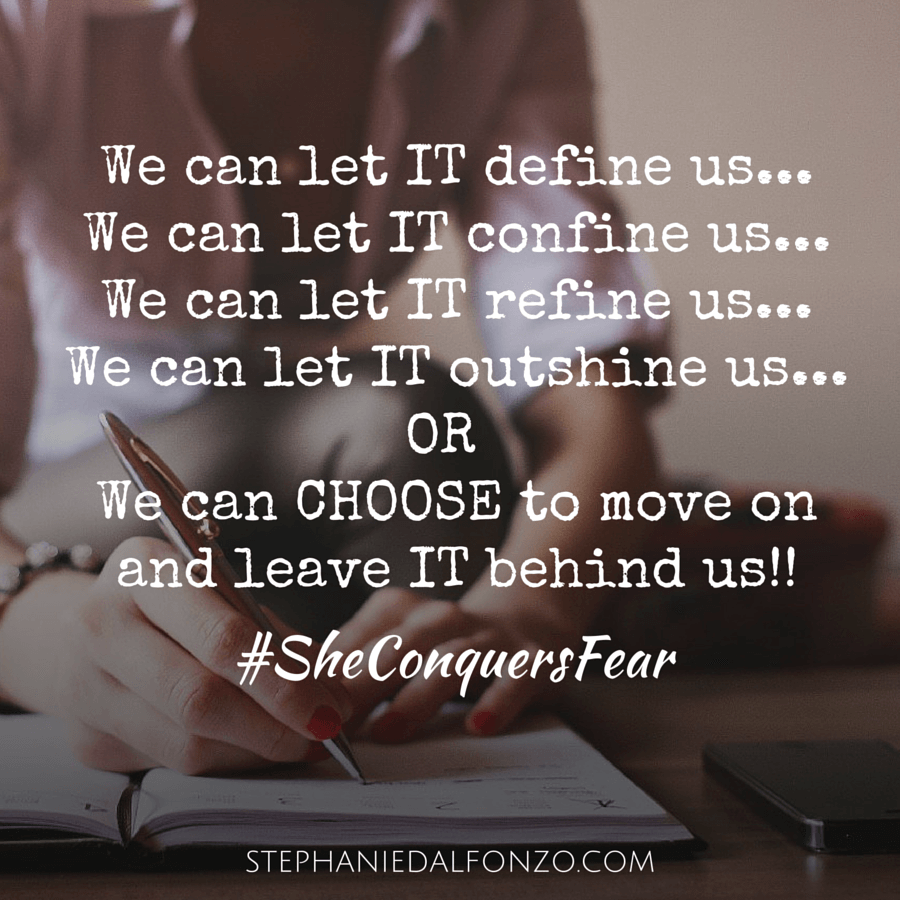 We can let IT define us...   Stephanie Dalfonzo