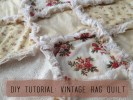 Vintage Rag Quilt Craft Photo Prop | DIY Tutorial