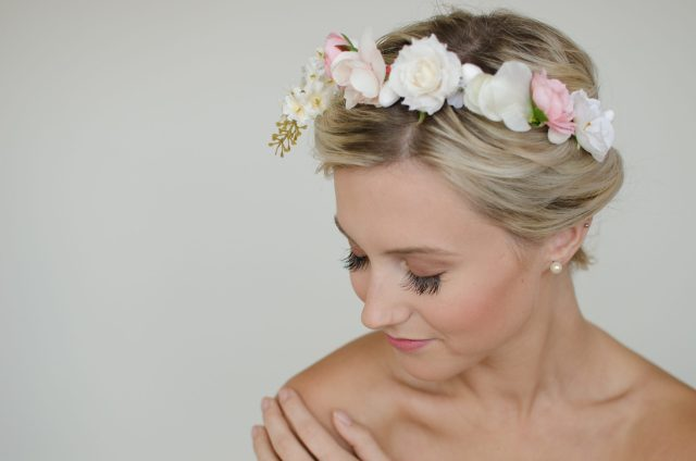 bridal portrait beauty headshot the handmade bride ottawa chelsea mason photography flower crown