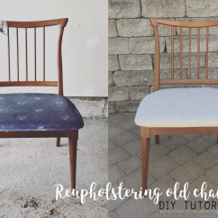 Vintage Kitchen Chairs Gel Mats Reupholstering Diy Project Stephanie De Tutorial Antique To Modern