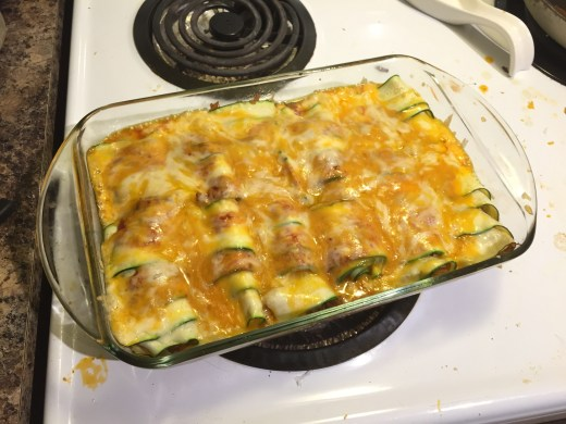 Keto-Friendly Low Carb Zucchini Enchiladas melted cheese