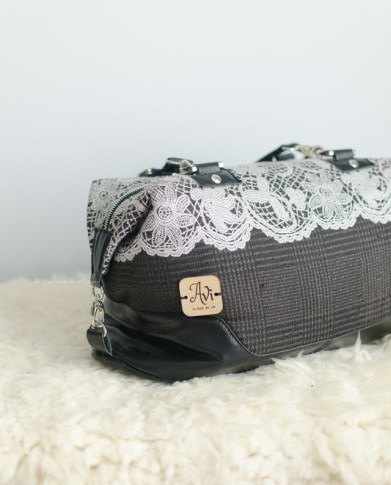 babywearing wrap conversion hospital bag diaper purse leather straps lace overlay