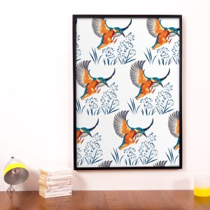 StephanieDesbenoit-poster-birds-kingfisher-white