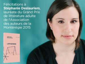 lauréate AAM 2015 Stéphanie Deslauriers