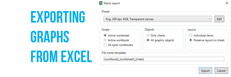 Exporting graphs from excel evergreen data ccuart Choice Image
