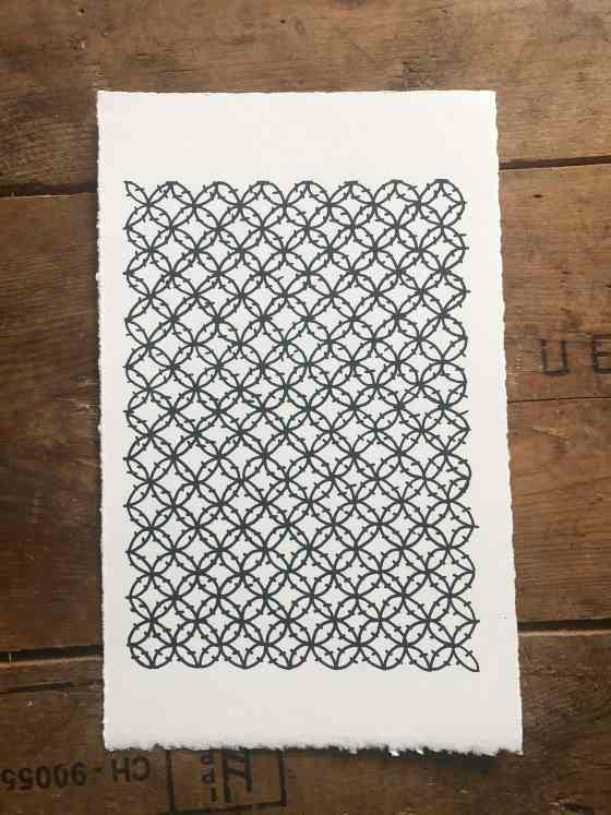 2 x 2 double crochet clusters screenprint