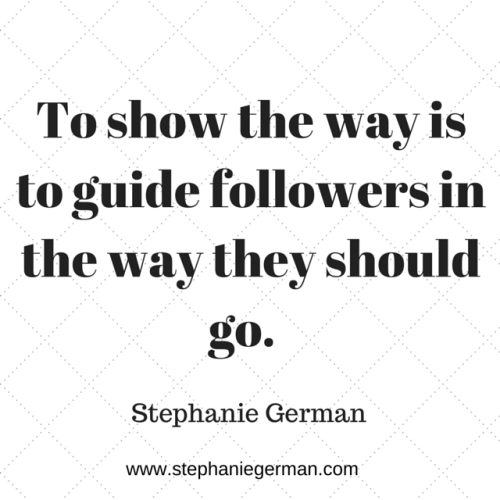 Show the way is to guide