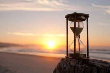 Hourglass Sand Timer Beach Sunrise