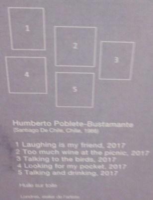 Humberto Poblete-Bustamante, cartel d'exposition, tu sais ce qu'elle te dit .... ma concierge, ?! Muba Eugène Leroy Tourcoing, avril 2017