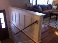 Entry Stair Railing  Split Foyer | Stephanie King Design