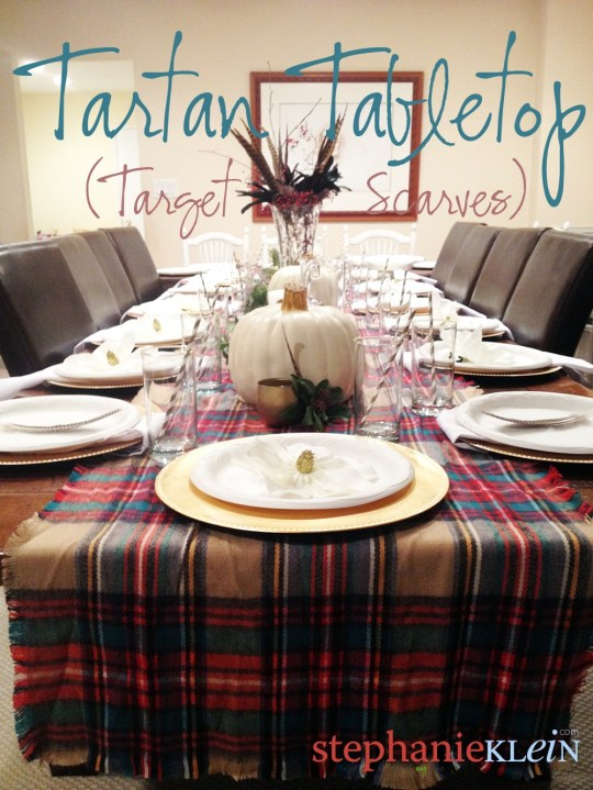 Tartan Thanksgiving Tabletop - hello, Dollar Tree, Target, and Michael's!