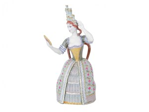 Porcelain figurine Lady with the mirror