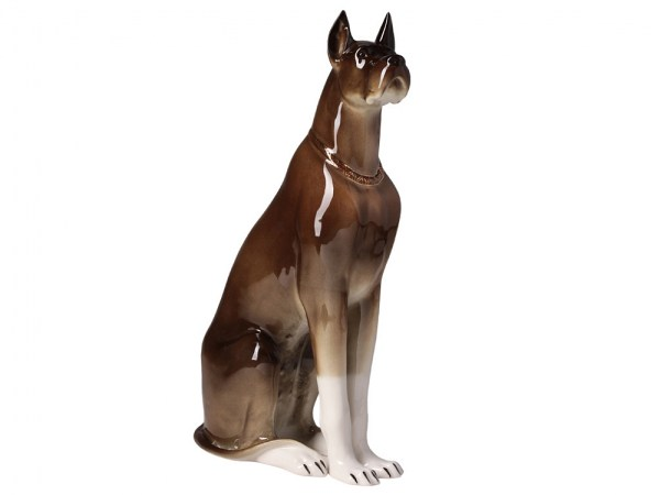 Porcelain figurine Dog brown