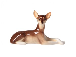 Porcelain dog figurine Russian Toy Terrier