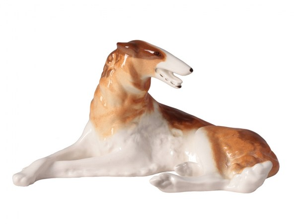 Porcelain dog figurine Russian Greyhound