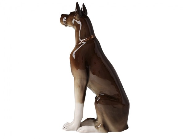 Porcelain figurine Dog brown (2)